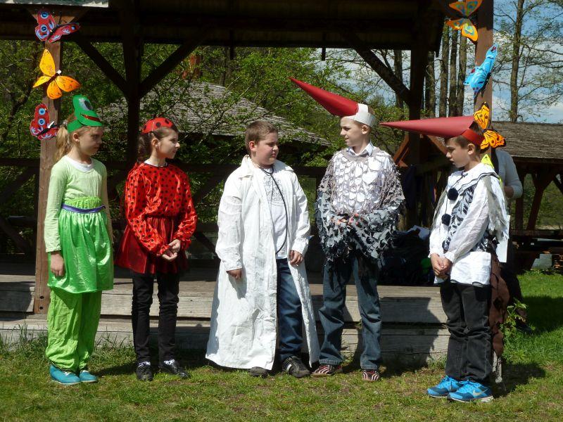 Inscenizacja przygotowana przez dzieci ze SP w Jeleniewie