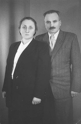 Antoni Patla z żoną Maria 1956 roku