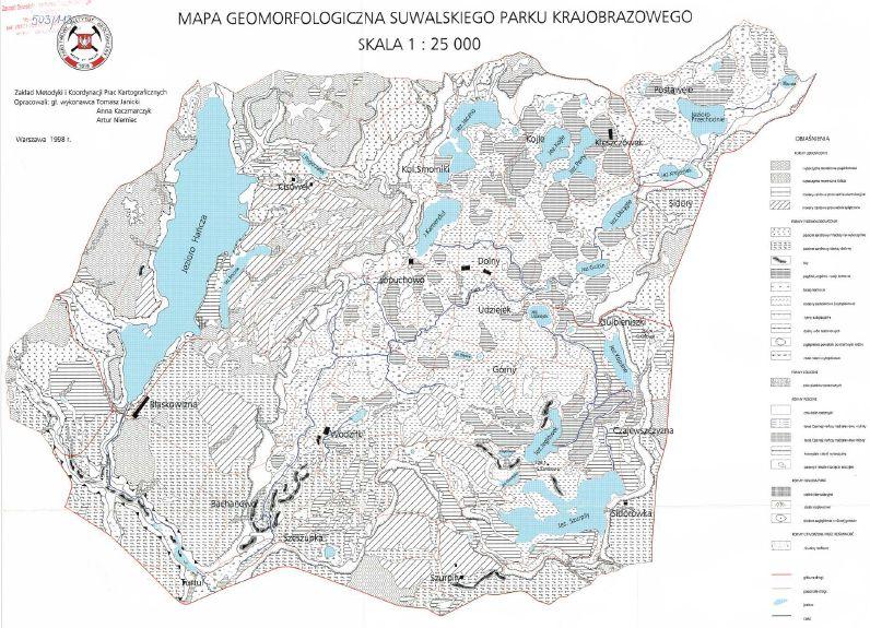 Mapa Geomorfologiczna SPK w skali 1:25000 do pobrania w pliku .pdf