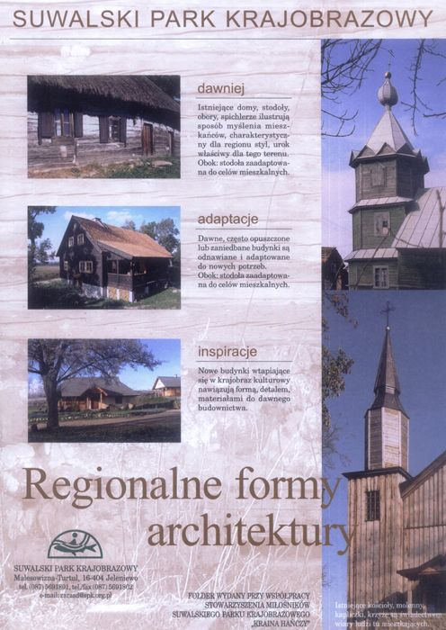 Ulotka regionalne formy architektury