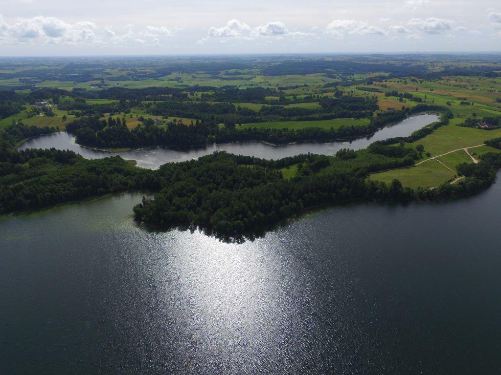 Jezioro Hańcza i jezioro Boczniel. Fot.M.W. Żarski