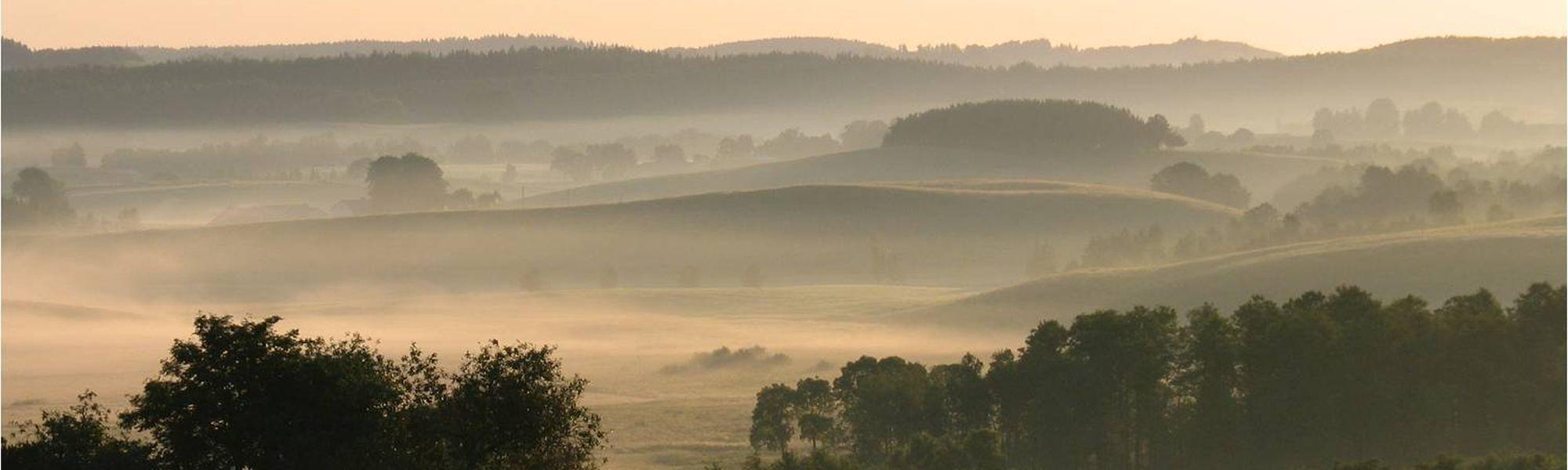 Poranek w Suwalskim Parku Krajobrazowym