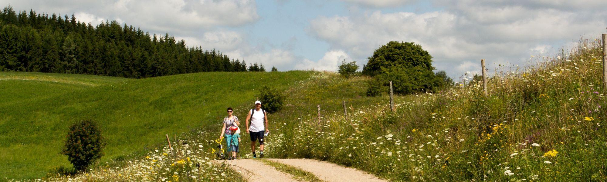Wieś Szurpiły - rodzinne wędrówki w SPK