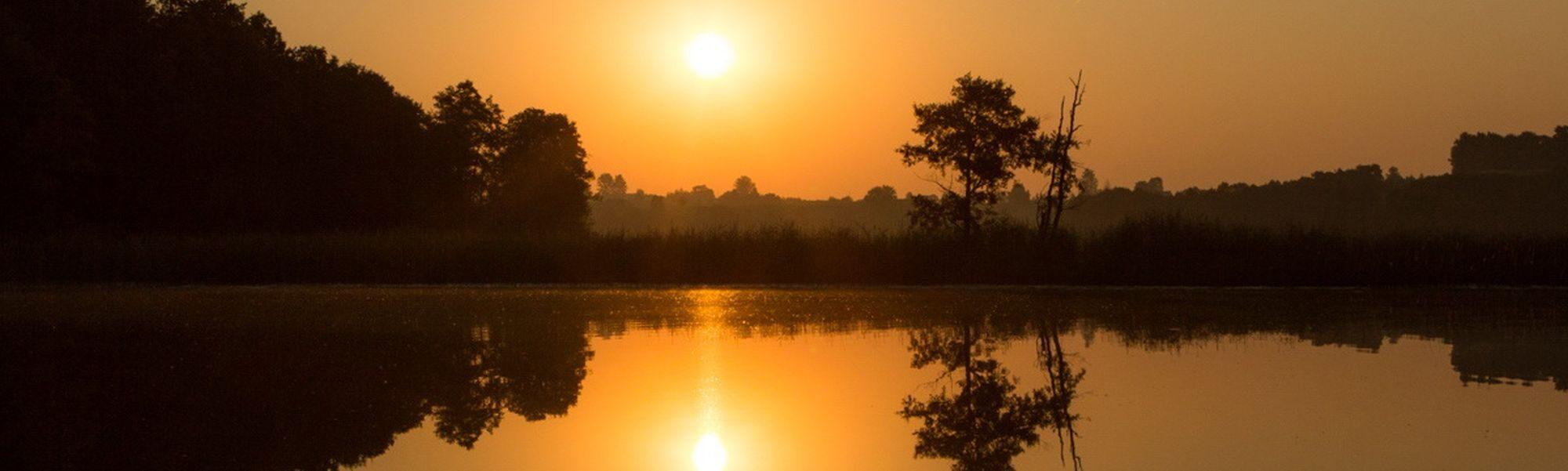 Zachód słońca w SPK