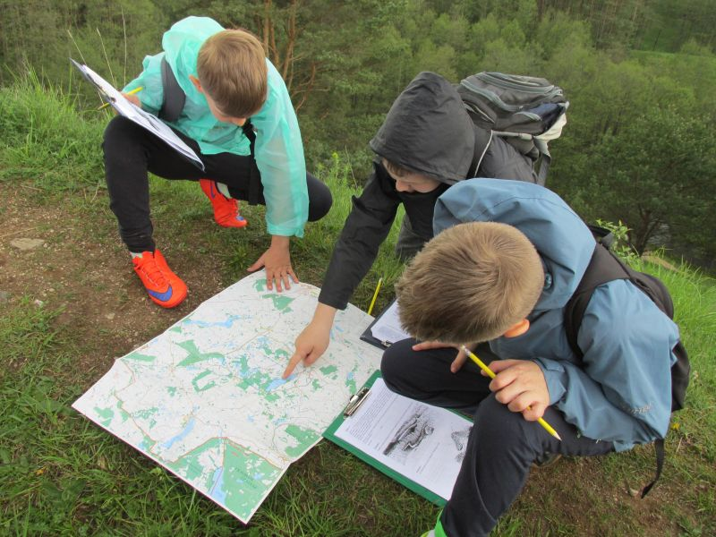 Zajęcia edukacyjne z mapą turystyczną