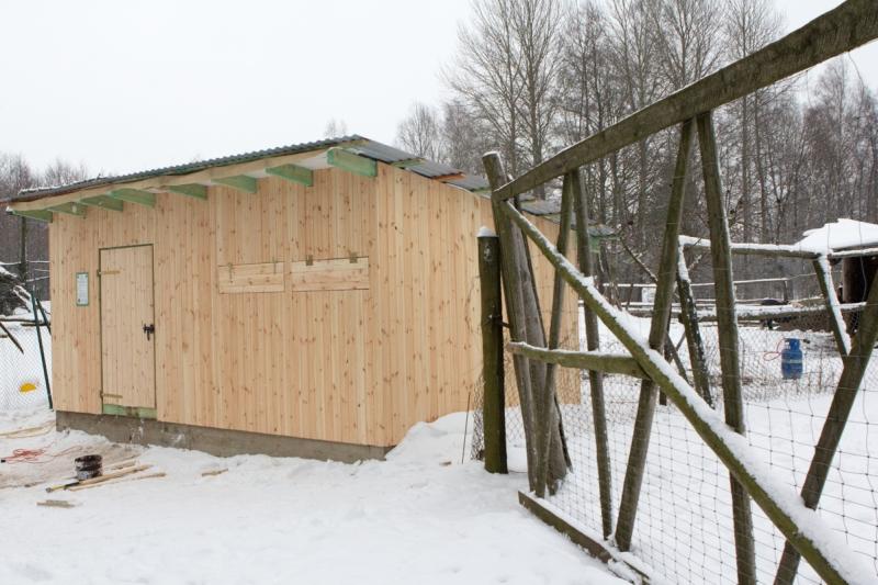Budowa izolatki dla dzikich zwierząt w Mikołajówce