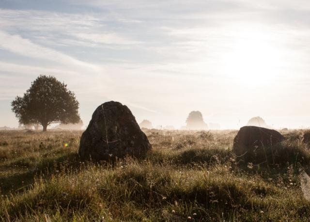 Głazy na rezerwacie przyrody Rutka