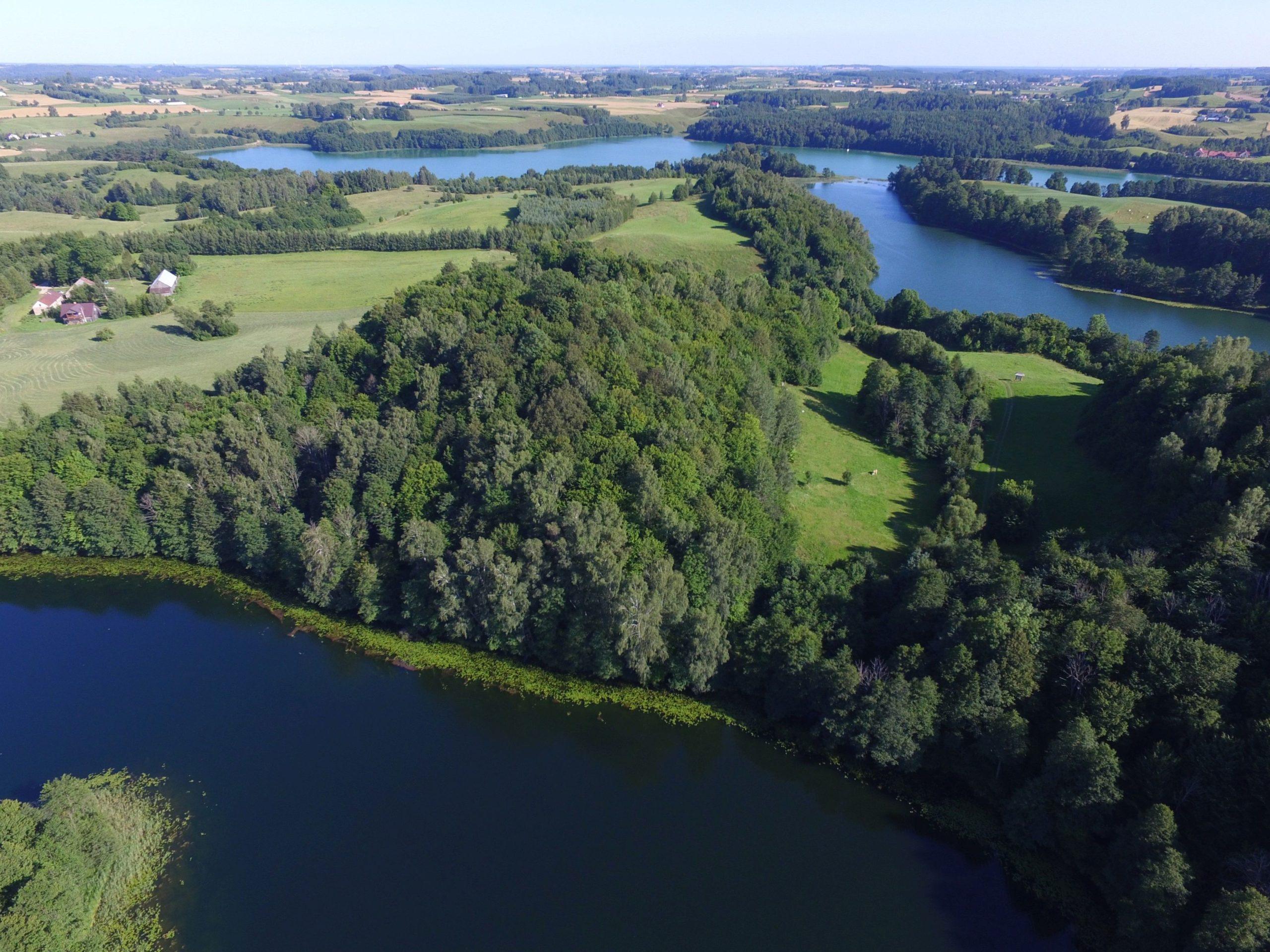 Góra Koscielna, jezioro Jeglówek i jezioro Szurpiły. Fot.M.W.Żarski