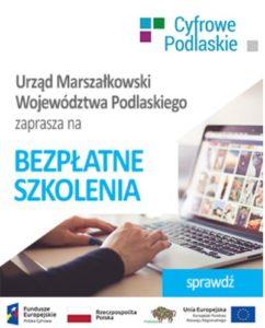 Cyfrowe podlaskie - bezpłatne kursy dla mieszkańców województwa podlaskiego