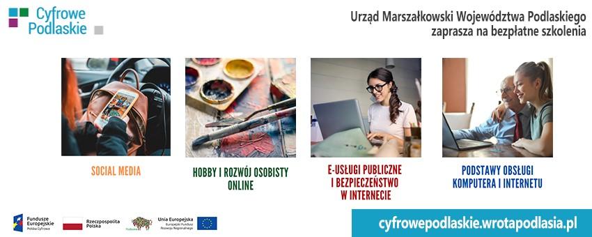 Cyfrowe podlaskie - bezpłatne szkolenia dla mieszkańców województwa podlaskiego